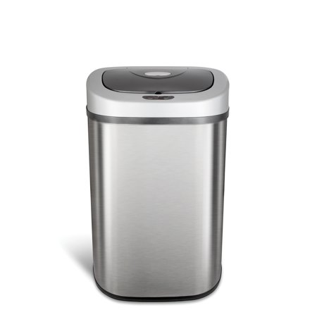 Nine Stars 21.1-Gallon (80-Liter) Stainless Steel Sensor-Operated Trash Can