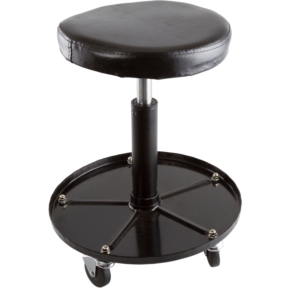 Black Widow Adjustable Rolling Garage And Shop Seat