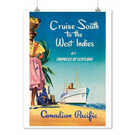 Canadian Pacific - Cruise South to the West Indies Vintage Poster  (9x12 Art Print, Wall Decor Travel