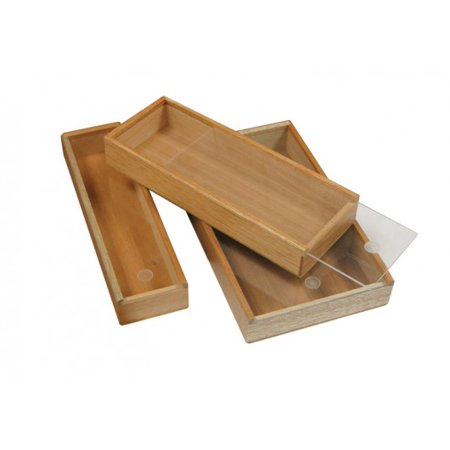 2 Cigar Promotional Ceder Lined Wooden Structure Box with Clear Slide Top