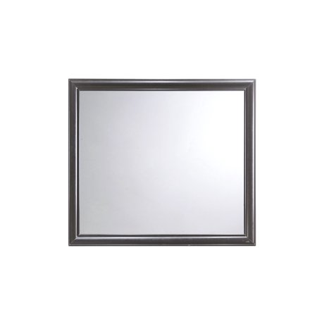 Emerald Home Prelude Honey Black and Brown Mirror with Beveled Glass And Wood Frame Standard Wood Mirror