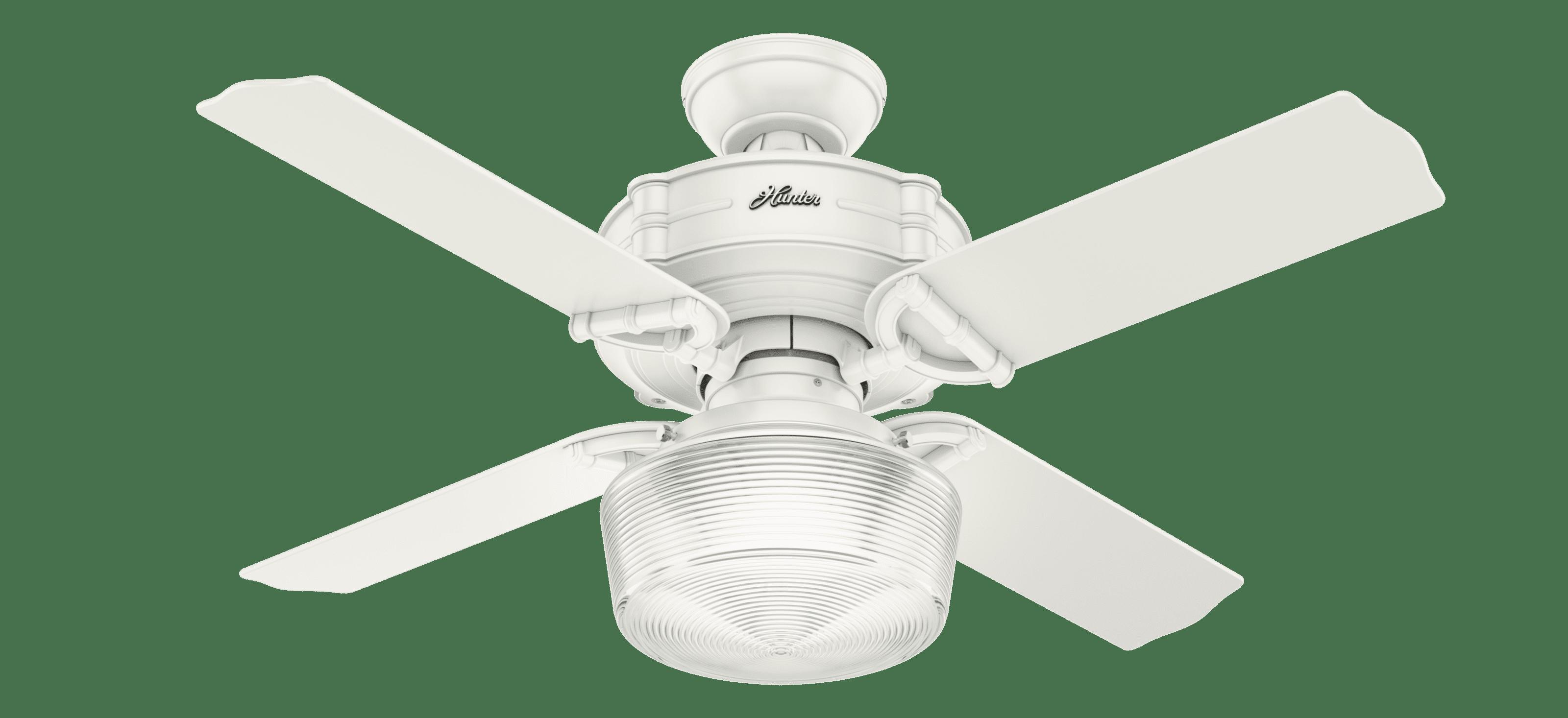 """Brunswick Auto Mart >> 44"""" Hunter Brunswick Fresh White Ceiling Fan with LED ..."""