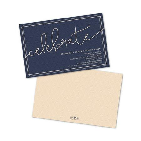 Personalized Script Celebrate Party Invitations - Personalized Party Invitations