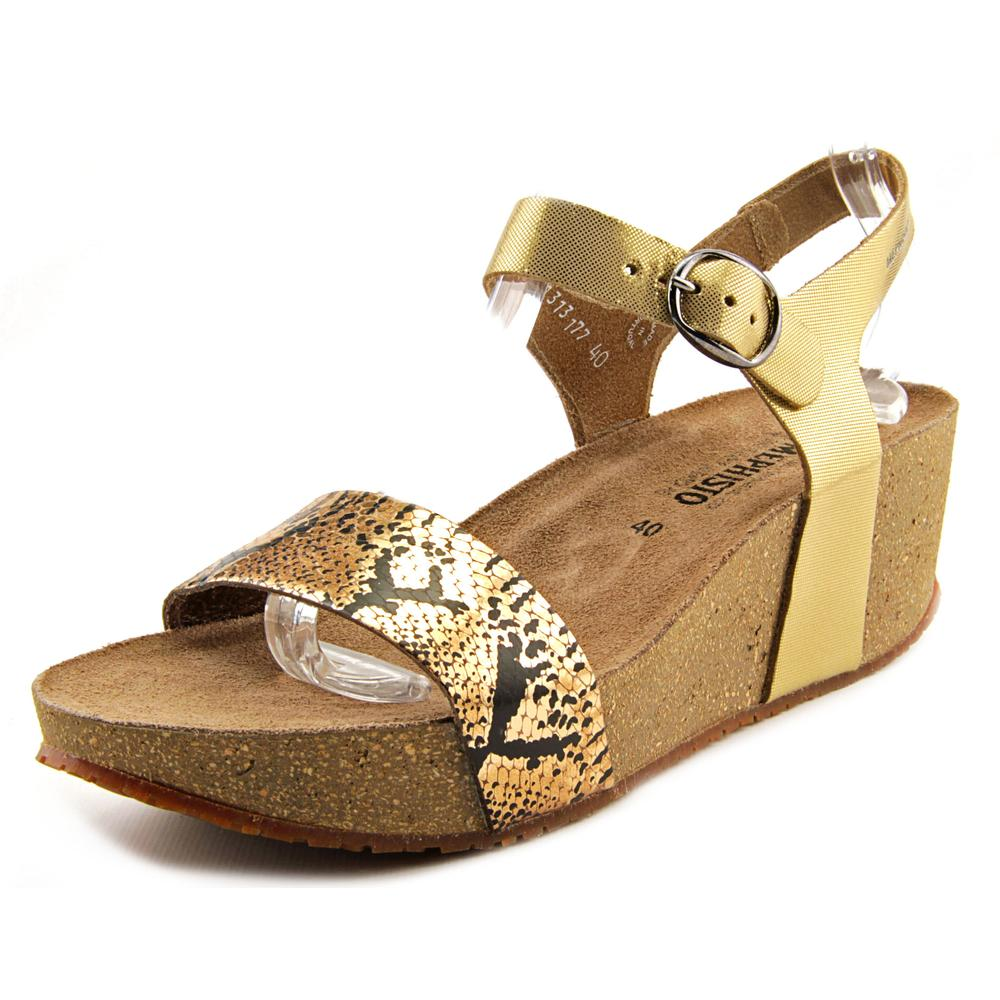 Mephisto Fiona Open Toe Leather Wedge Sandal by Mephisto