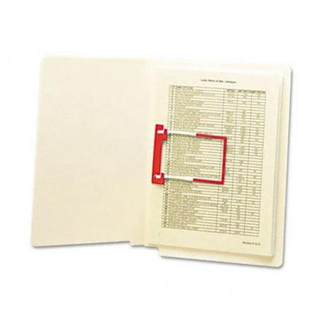 U-clip Bonded Fastener (U-Clip Bonded File Fasteners  2   Capacity  Red And White  100 per)