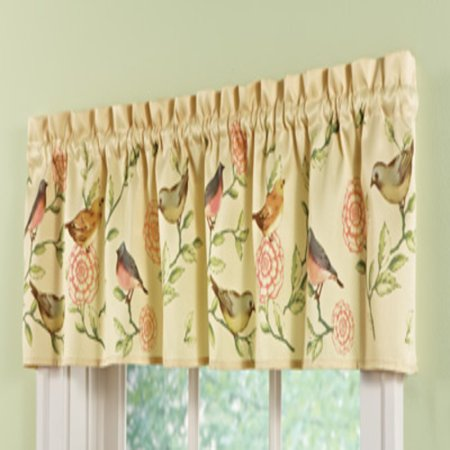 Floral Blooms (tksherlock Song Birds Flower Blooms Floral Kitchen Bath Window Valance Curtain Home)