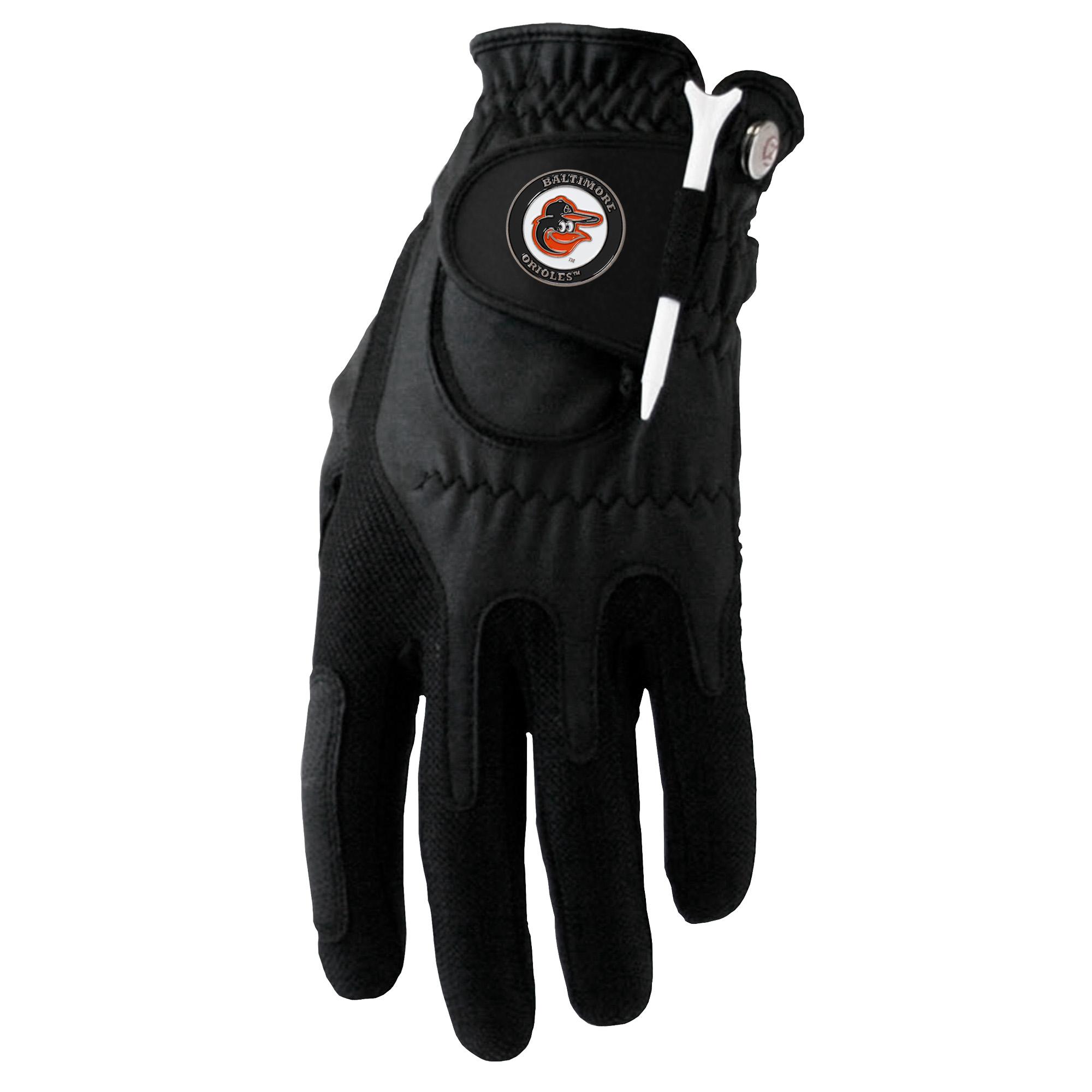 Baltimore Orioles Left Hand Golf Glove & Ball Marker Set - Black - OSFM
