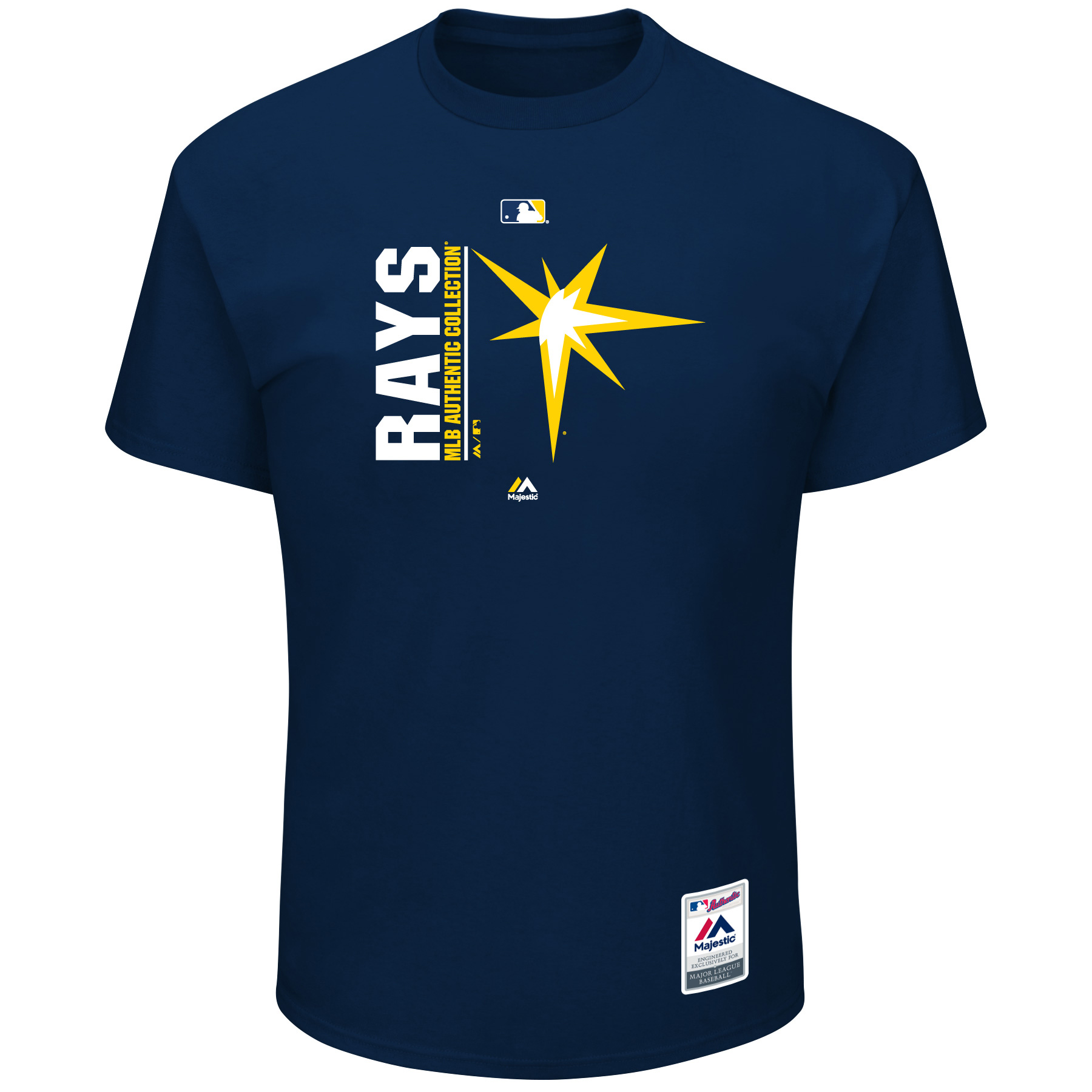 Men's Majestic Navy Tampa Bay Rays Big & Tall Team Icon T-Shirt