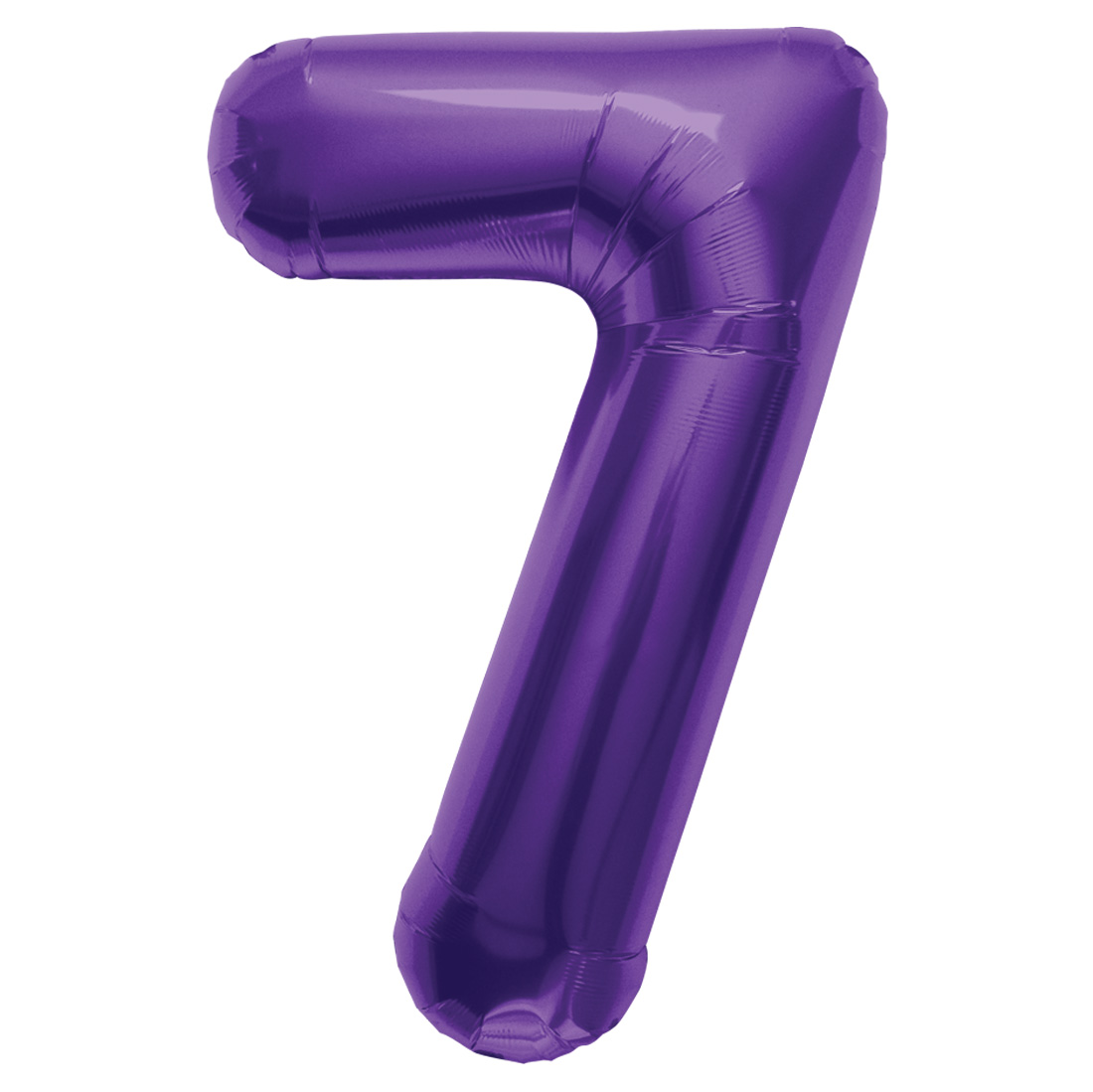 "Northstar Number 7 Seven Shape Solid Jumbo Helium 34"" Foil Balloon, Purple"