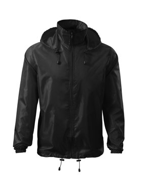 Windbreaker Rain Jacket Hooded - IF FOR MEN: SIZING RUNS SMALL GET THE NEXT  SIZE
