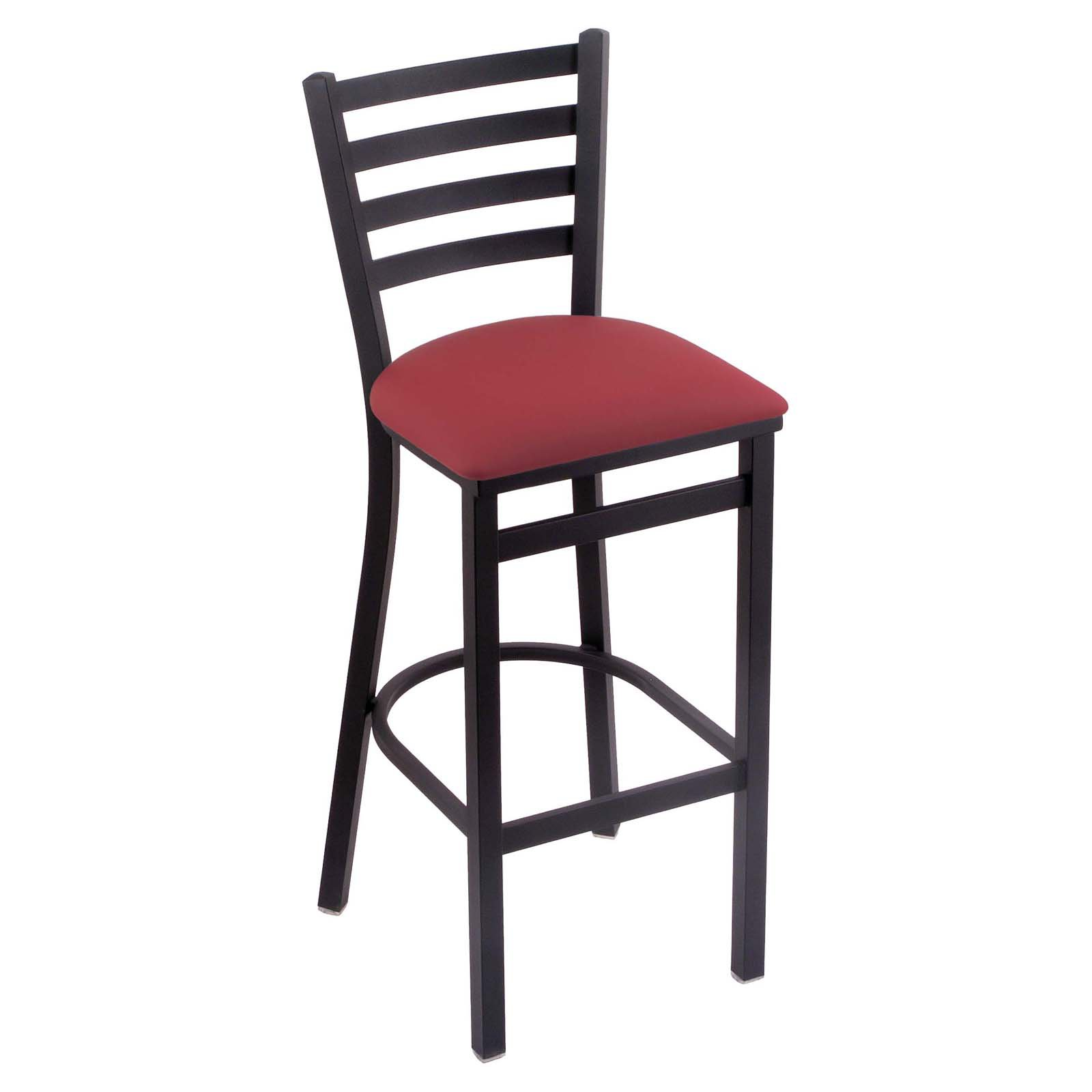 Holland Bar Stool Jackie 25 in. Counter Stool with Faux Leather Seat - Black Wrinkle