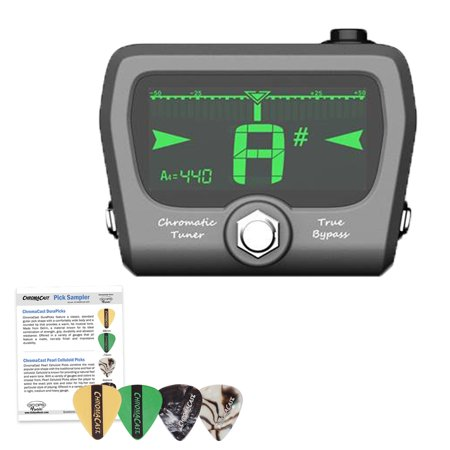 GoGo Tuners Horizon Pedal Tuner with ChromaCast 4 Pick Sampler,