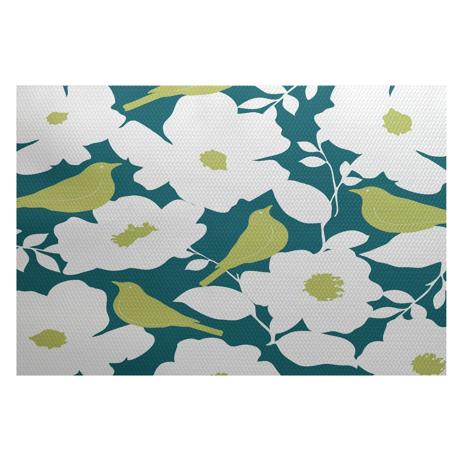 Simply Daisy 3' x 5' Modfloral Floral Print Indoor Rug