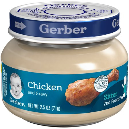 Gerber 2nd Foods Chicken Amp Chicken Gravy Baby Food 2 5 Oz