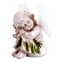 Solar Powered Angel With Solar Fiber Optic Wings LED Garden Light Decor