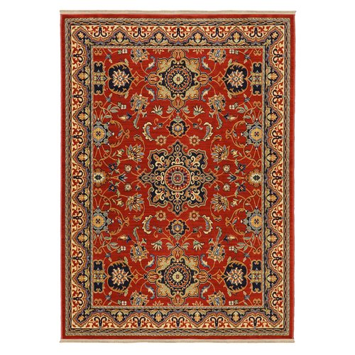 Karastan English Manor Manchester Red Ivory Area Rug by Mohwak Home