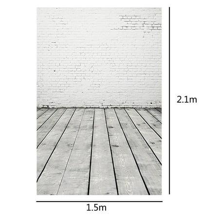 Photography Backdrops Photo Props Studio Background Wall Wood Floor vinyl 5x7ft - image 2 of 4
