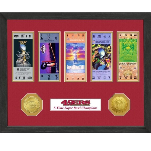 The Highland Mint Super Bowl Championship Ticket Collection, San Francisco 49ers