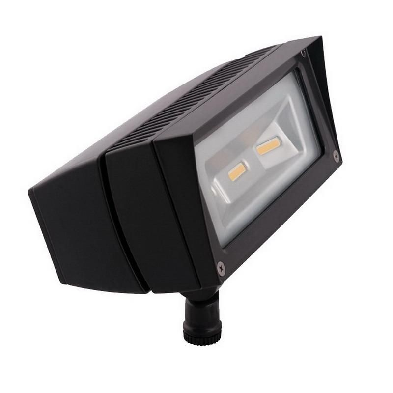 Rab FFLED18 Future Flood Series Rectangular LED Flood Light Fixture 18 Watt 120 - 277 Volt 5000K Arm Mount Bronze