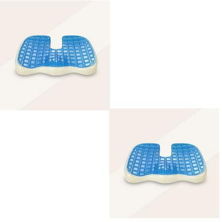 2 X Egg Sitting Gel Flex Cushion Seat Sitter Flex Pillow Back Support Orthopedic