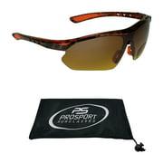 Prosport Semi Rimless Wraparound Frame Bifocal Reading Sunglasses