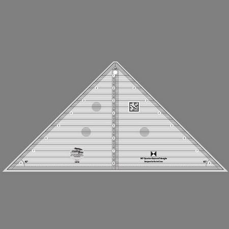 Quarter Ruler - Creative Grids 90 Degree Quarter-Square Triangle Ruler
