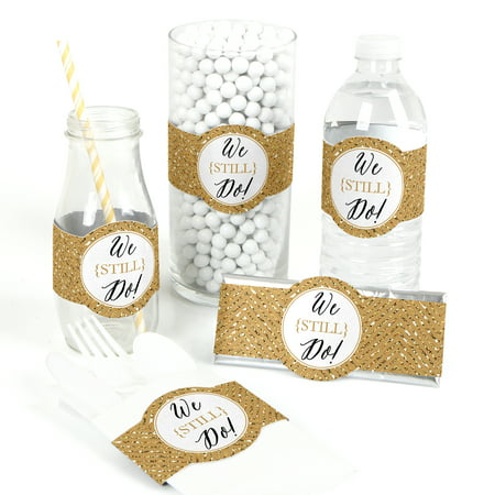 We Still Do - 50th Wedding Anniversary - DIY Party Wrapper Favors - Set of 15