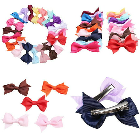 20 Pcs Girls  Alligator Clips Hair Clips  Bow Ribbon Kids Sides  CCGE](Halloween Fall Hair Bows)