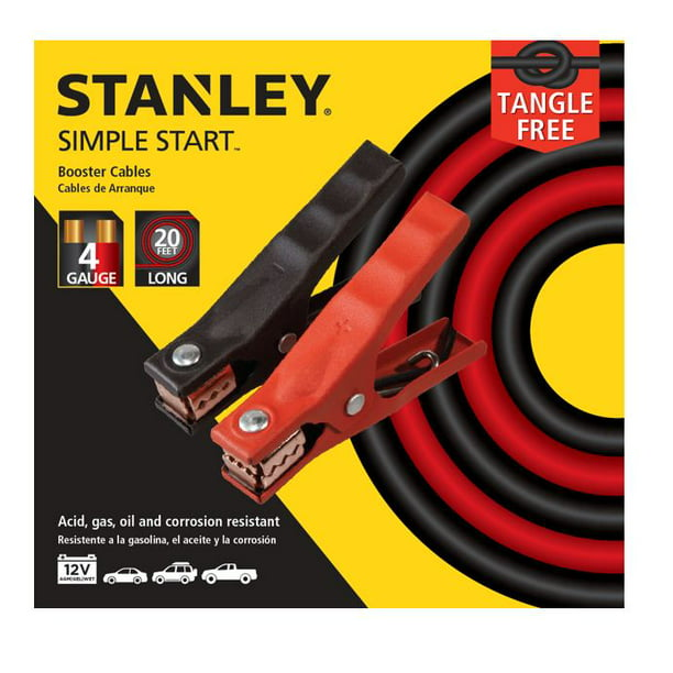 STANLEY 4 Gauge- 20 Foot- Automotive Booster Cables (BBC4S)