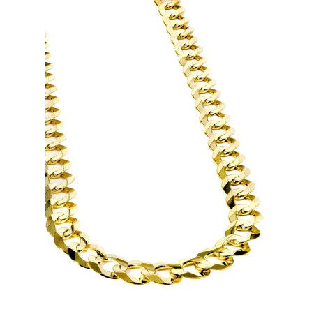 18bf320d6 DiamondMist - Solid 10K Yellow Gold Men's Cuban Curb Chain Necklace 5.5MM  22