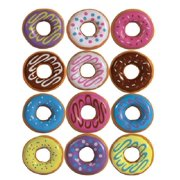 Donut Charms 1 Dozen PVC Donuts with Ball Chains