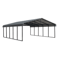 Arrow 20' Wide Galvanized Steel Metal Carport, Multiple Sizes and Colors