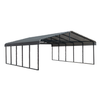 Arrow 20' Wide Metal Carport with Steel Roof Panels, Multiple Lengths and Colors