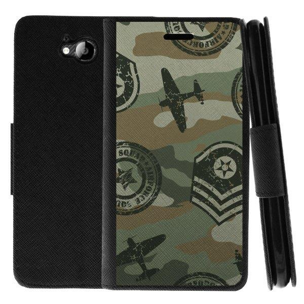 TurtleArmor ® | For ZTE Majesty Pro Z798BL, Z799VL [Wallet Case] Leather Cover with Flip Kickstand and Card Slots - Military Squad