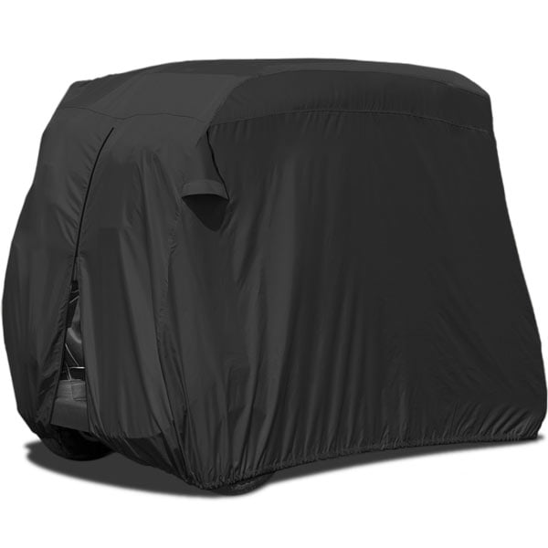 Waterproof Superior Black Golf Cart Cover Covers Club Car, EZGO, Yamaha, Fits Most Two-Person Golf Carts by KapscoMoto
