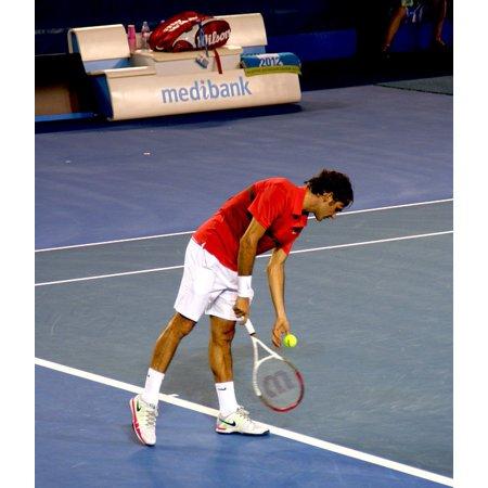 Laminated Poster Tennis Australian Open Roger Federer Tennispieler Poster Print 24 X 36