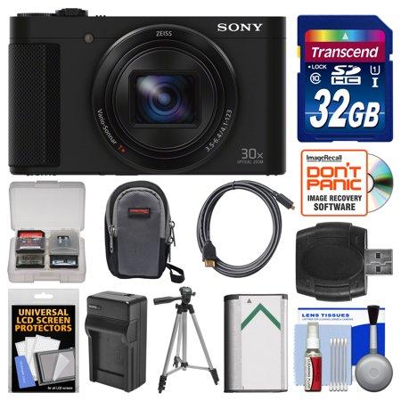 Sony Cyber-Shot DSC-HX90V Wi-Fi GPS Digital Camera with 32GB Card + Case + Battery & Charger + Tripod + Kit
