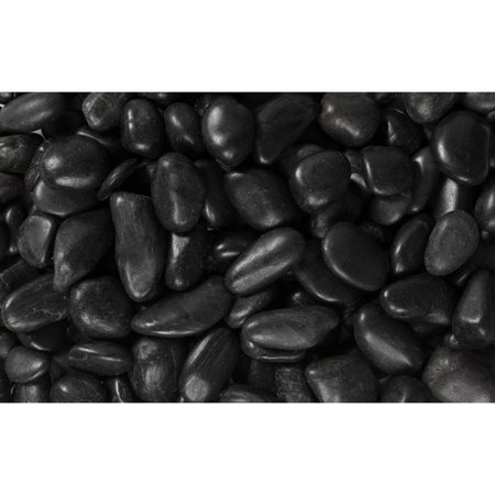 "Margo 20 lb Black Grade A Polished Pebbles, .5"" to 1.5"""