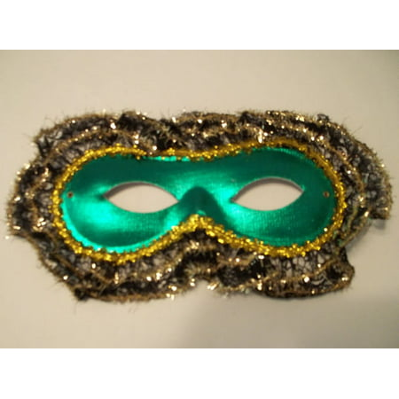 Lace Trim Mardi Gras Prom Masquerade Ball Party Green Lamai Mask](Mardi Gras Ball Gowns)