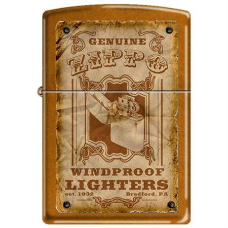 Zippo Genuine Zippo Vintage Windproof Lighter Bradford PA Poster Toffee NEW Rare (New Toffee)