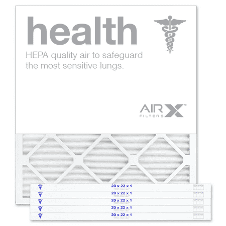 AIRx Filters Health 20x22x1 Air Filter MERV 13 AC Furnace Pleated Air Filter Replacement Made in the USA