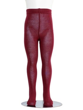 Burgundy Piccolo Heavyweight Opaque Toddler Little Girls Tights 2T-16