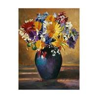 Trademark Fine Art 'Still Life Blue Vase Color' Canvas Art by David Lloyd Glover