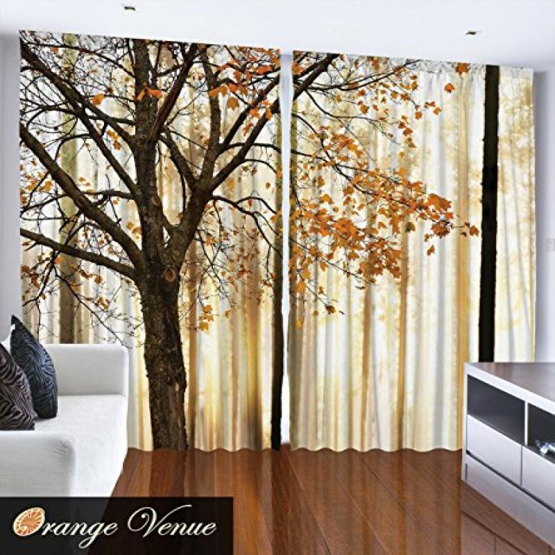 "Fall Trees - 108"" x 90"" -Bedroom or Living Room Curtain P..."