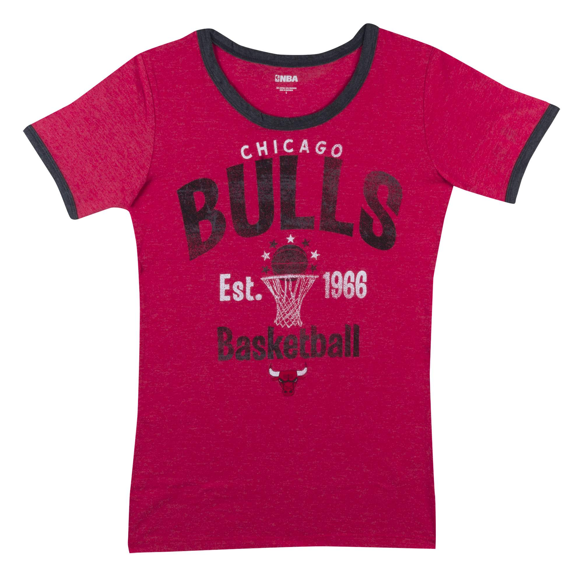 Chicago Bulls Women's NBA Short Sleeve Biblend Crew Neck Tee