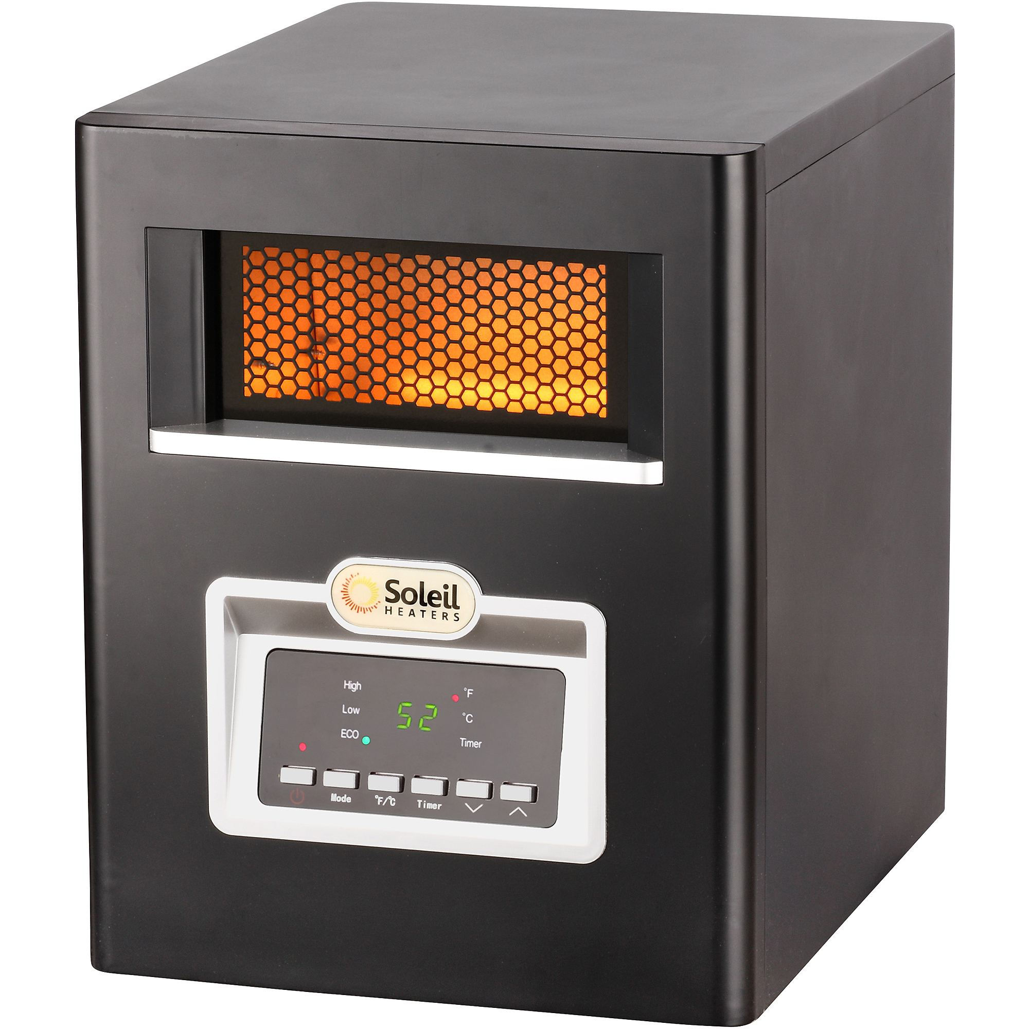 Soleil Electric Infrared Cabinet Space Heater, 1500W, PH-91F