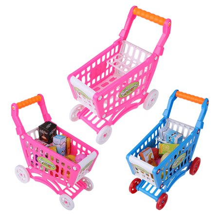 Yosoo Kids Shopping Cart Toy Children Pretend Role Play Food Fruits Playing Game, Shopping Cart Toy, Kids Shopping Cart Toy Description:This lovely children's shopping cart is eco-friendly, safe and durable.Its rich accessories will satisfy baby's curiosity and imagination and develop their knowledge of different fruits, vegetables and snacks, etc.It brings great joy and different experience to the baby.Features:Adopt high quality ABS material, eco-friendly, non-toxic, safe to baby.Has fine workmanship, it's smooth and mellow, it won't hurt hands while using it.The handle is in moderate size and has comfortable hand feel, suits baby's hands perfectly.This shopping cart helps to develop baby's recognition of different fruits and vegetables.It can also cultivate baby's imagination and creativity, promote brain development.Specification:Condition: 100% Brand NewItem Type: Children Shopping CartMaterial: ABSOptional Type: Rosy Red, Rosy Red with Food, Blue with FoodSize: Approx. 27.5*30.5*20cm/10.83*12.01*7.87inWeight: Approx. 254-456gPackage Included:1 * Children Shopping Cart with AccessoriesNote:1. Monitors are not calibrated same, item color displayed in photos may be showing slightly different from the real object. Please take the real one as standard.2. Please allow 0~1 inch error due to manual measurement. Thanks for your understanding.