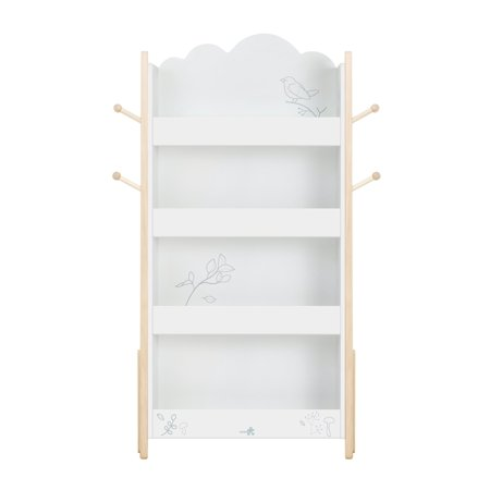 Labebe Kid Book Display Wood White Bookshelf For 1 Year Up
