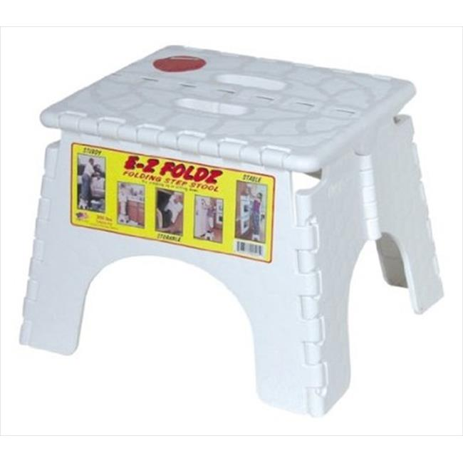 B&R PLASTICS 1016 High Folding Step Stool, White by B&R Plastics