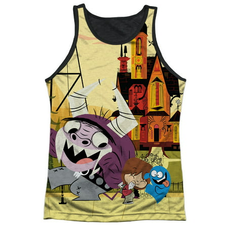 Foster Home For Imaginary Friends Halloween (Fosters Home for Imaginary Friends Dancing Adult Black Back Tank Top)